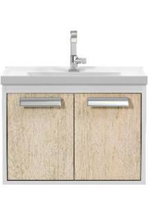 Gabinete De Banheiro Cerocha Com Lavatório 51Cm Berlin E Branco Rigel