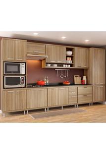 Cozinha Compacta 9 Peças Com Tampo 5833-S16T - Sicília - Multimóveis - Argila Acetinado