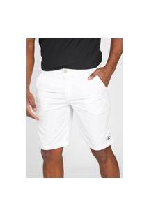 Bermuda Calvin Klein Jeans Chino Tag Branca