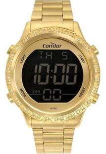 Relógio Condor Digital Cobj3463Ah/4D Feminino - Feminino-Dourado