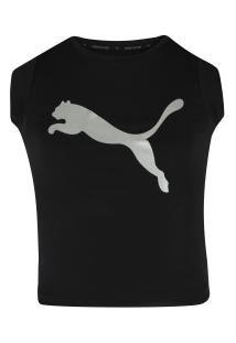 Camiseta Puma Explosive Graphic Feminina - Infantil - Preto