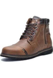 Bota Sandalo Sayle Factor Masculina - Masculino-Marrom Claro
