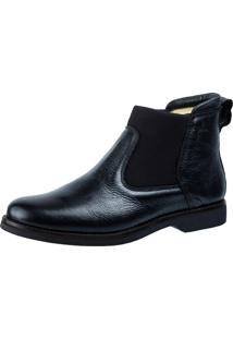 Botina Doctor Shoes 8614 Elástico Preto