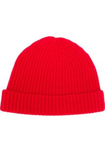N.Peal Gorro Em Cashmere - Vermelho
