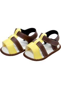 Sandália Corinho Moderna Sapatinhos Baby Amarela