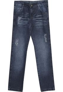 Calã§A Popstar Semi Reta Jeans - Azul - Menino - Dafiti