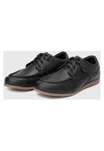 Sapato Em Couro Hayabusa Enter 10 Preto Solado Âmbar