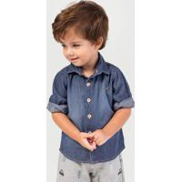 b97bfbb7a Camisa Jeans Em Tecido De Algodão Bebê Menino Hering Kids