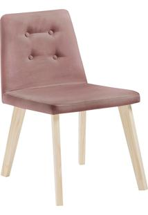 Cadeira Caqui F57-1 Veludo – Daf Mobiliário - Rosa