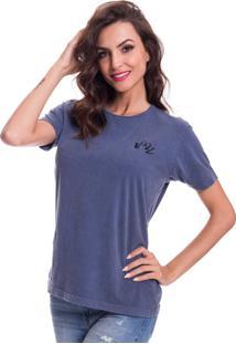 Camiseta Jazz Brasil Basica Azul - Azul - Feminino - Algodã£O - Dafiti