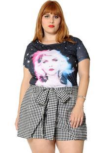 Camiseta Vintage And Cats Plus Size Blondie Preta