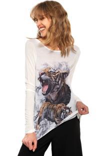 Camiseta Lez A Lez Wild Strass Branca