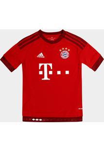 Camisa Bayern De Munique Infantil Home 15/16 S/Nº - Torcedor Adidas - Masculino-Vermelho