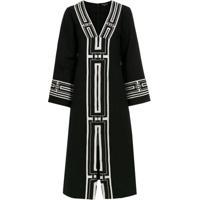 4d7462ca1 A.Brand Vestido Mangas Longas Bordado - Preto