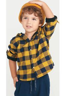 Camisa Bebê Menino Flanelado Xadrez