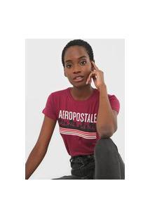 Camiseta Aeropostale Logo Vinho