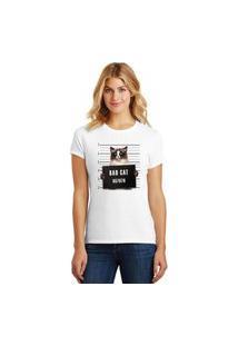 Camiseta Feminina T-Shirt Pets Bad Cat Siames