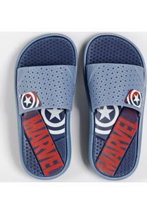 Chinelo Infantil Slide Capitão América Grendene Kids 21906