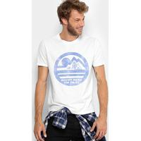 a06eb6344 Camiseta Ellus 2Nd Floor Camp Vintage Masculina - Masculino-Branco