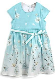 Vestido Milon Floral Azul