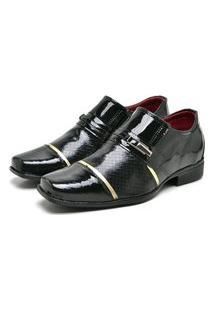 Sapato Social Masculino Mb Outlet Preto Verniz