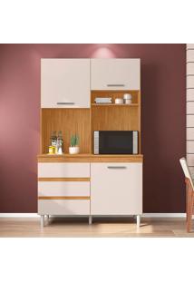Cozinha Compacta Smart 3 Pt 3 Gv Cedro E Champanhe