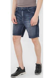 Bermuda Jeans Ellus Reta Estonada Azul - Kanui