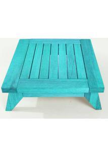 Banco Meditação Zen Pequeno Estrutura Azul + Almofada 45Cm - 61671 - Sun House