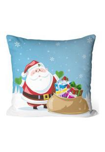 Capa De Almofada Love Decor Avulsa Decorativa Papai Noel Com Presentes