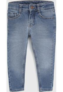 Calça Jeans Puc Infantil Pespontos Azul