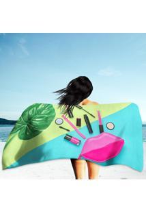 Toalha De Praia / Banho Cosmetic Makeup Minimal