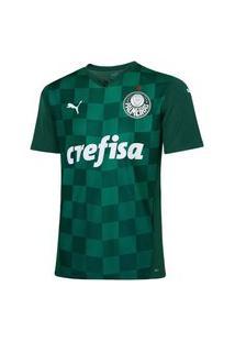 Camisa Puma Palmeiras Home Jersey 2021 Infantil Verde
