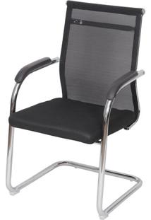 Cadeira Office Toronto- Preta & Prateada- 93X55,5X48Or Design