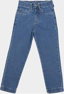 Calça Jeans Bebê Malwee Básica Masculina - Masculino-Azul