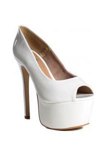 Sapato Peep Toe Feminino Salto Fino Zariff Casual