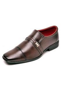Sapato Social Masculino Sem Cadarço Top Flex Marrom