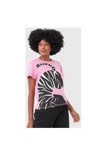 Camiseta Forum Zebra Rosa