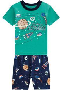 Pijama Curto Menino Verde