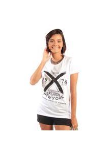 Camiseta Feminina Mirat Bronx Fashion New York Branca