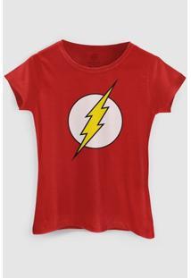 Camiseta Dc Comics The Flash Bandup! - Feminino-Vermelho