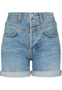 Re/Done '90S Turn-Up Denim Shorts - Azul