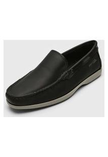 Sapato Social Pegada Pespontos Preto