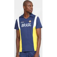 Camiseta Polo Vôlei Retro Asics Masculina - Masculino b9471098f554e