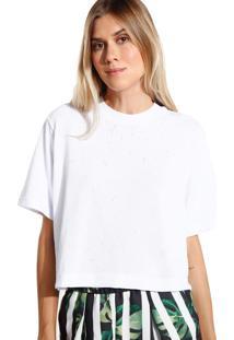 Camiseta John John Basic Malha Off White Feminina (Off White, P)