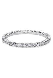 Aliança Absoluta Ouro Branco E 74,8 Pontos De Diamantes