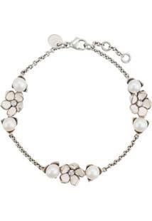 Shaun Leane Bracelete Cherry Blossom Com Pérolas E Diamantes - Prateado