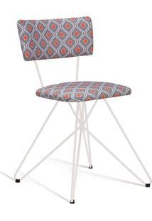 Cadeira Butterfly Branco E Laranja