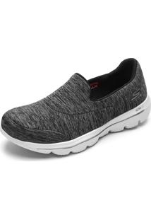 Slipper Skechers Go Walk Evolution Ultra-Amaze Cinza