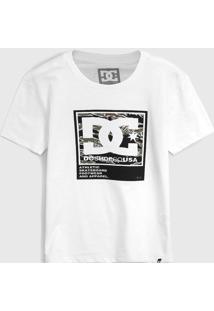 Camiseta Dc Shoes Infantil Logo Branca