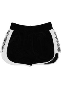 Shorts Moletom Feminino Preto